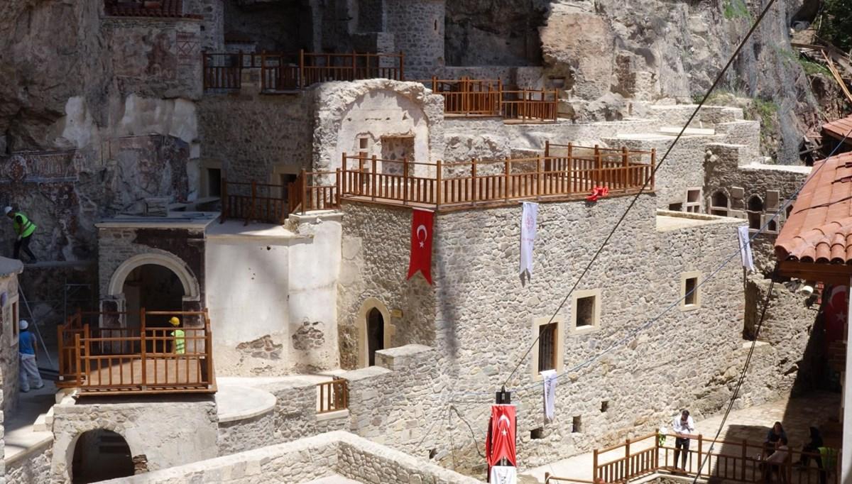 Sümela Manastırı'nda saklı mekanlar ziyarete açıldı
