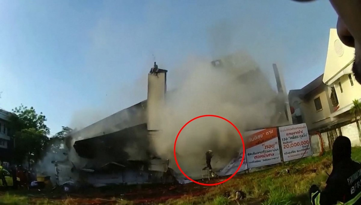 The building they tried to extinguish collapsed on them