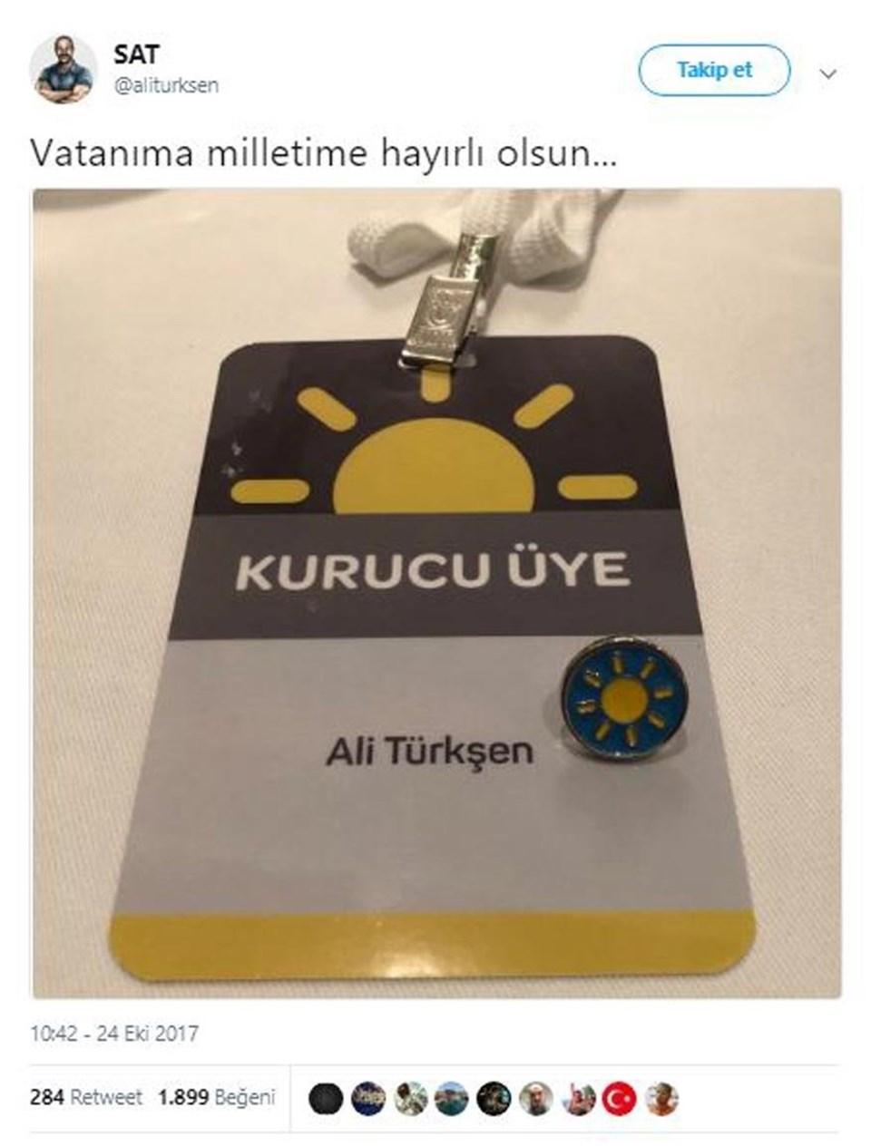 Akşener'in partisinin logosu sekiz ışıklı güneşten oluşuyor.