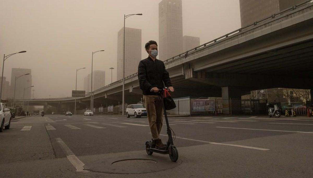 A sandstorm hit Beijing