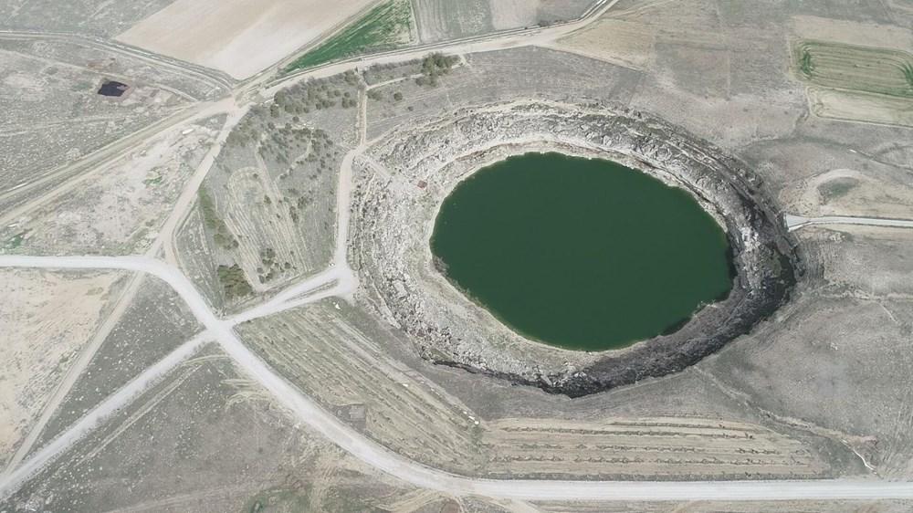 Timraş Obruk Gölü'nün suyu 8 metre azaldı - 7