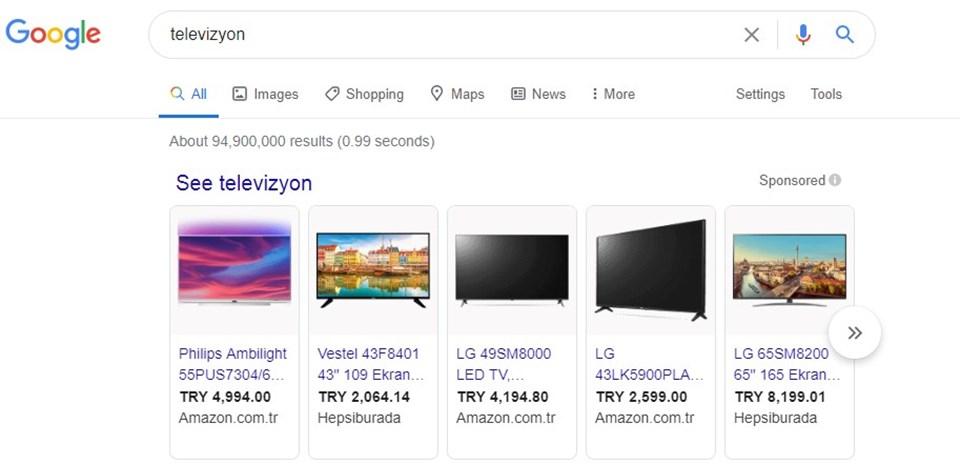 Söz konusu karar ile 10 Ağustos'tan itibaren arama sayfasının en üst kısmında yer alan slider şeklindeki alışveriş reklamları sayfada yer almayacak.