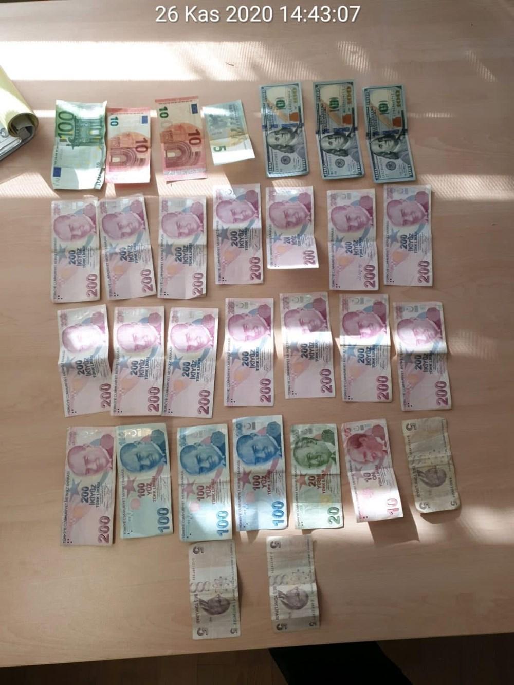 Hepsi dilencinin üzerinden çıktı: Dolar, euro, araba anahtarı - 3