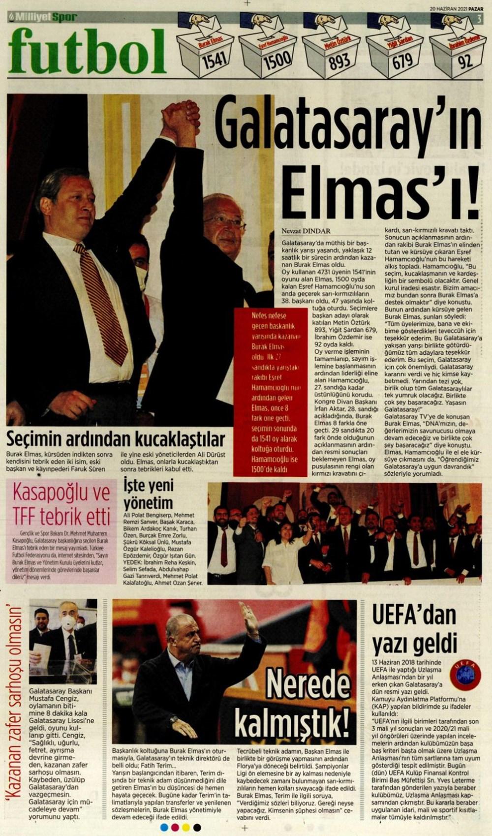 Günün spor manşetleri (20 Haziran 2021) - 13