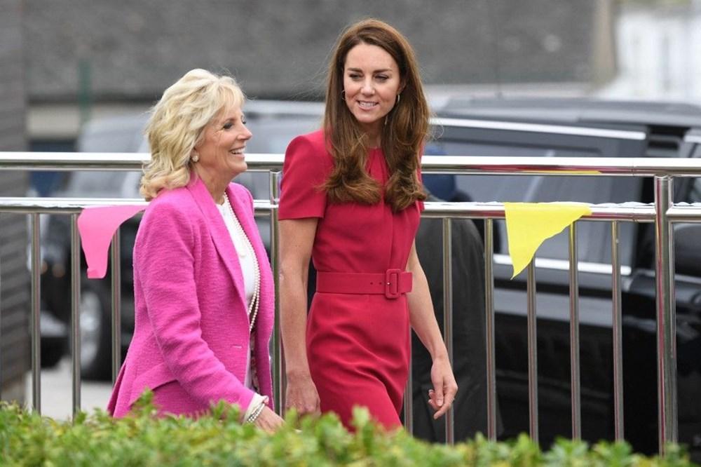 First Lady Jill Biden ve Cambridge Düşesi Kate Middleton buluştu: Birlikte okul ziyareti - 1