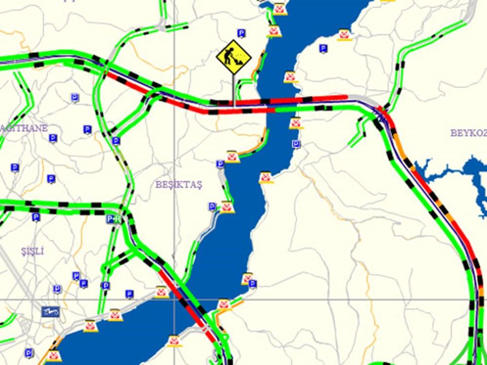 Saat 22.30 itibariyle FSM'de trafik durumu